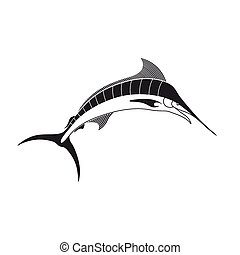 Vector Marlin Fish - Vector Illustration of a Marlin Fish