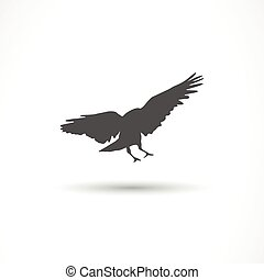 Vector Bird Icon - Vector Illustration of a Bird Icon
