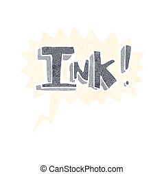 ink cartoon  with speech bubble