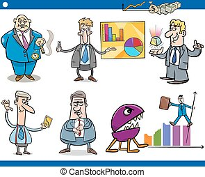 businessmen cartoon concepts set - Concept Cartoon...