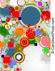Modern colored texture vector illustration. Cover for brochure