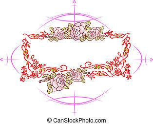 Wedding or Valentine`s day card, Vintage style.