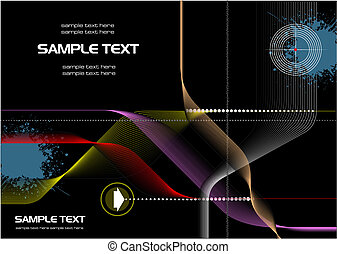 Abstract hi-tech background. Vector. Cover for brochure