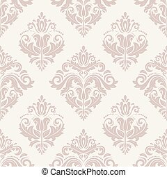 Orient Seamless Vector Pink Pattern. Abstract Background