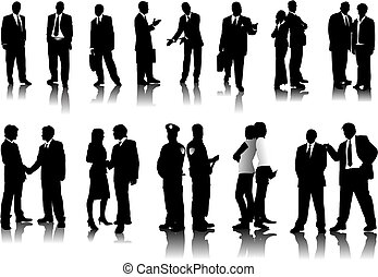 Office people silhouettes