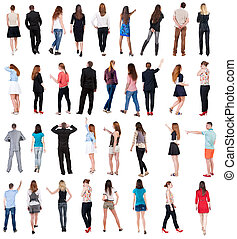 """collection """" back view of people """"."""