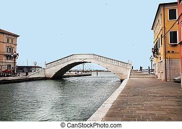 Ponte di Vigo Chioggia Veneto - the bridge Ponte di Vigo in...