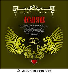 Wedding or Valentine`s day card