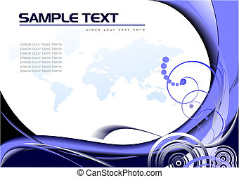 Abstract background with Earth image. Vector illustration