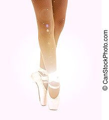 Young ballet dancer dancing on pointe