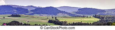 wide rural panorama
