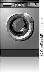 White washing machine vector