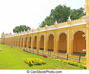 Mysore Palace Karnataka india - fort wall in this huge...
