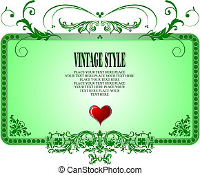 Vintage frame style, Vector illustration. Invitation card