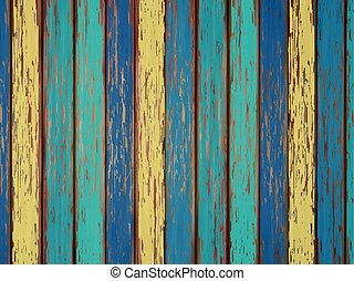 colorful painted wooden background - close-up look at...