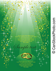 Invitation for wedding or cover for brochure
