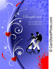 Valentine`s Day Greeting Card Vector illustration Invitation...