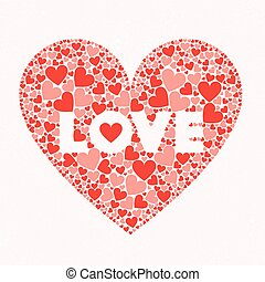 LOVE Valentines Day Card. Font Type Vector Heart Logo Design...