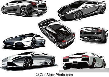 Vector illustration of concept-car