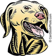 Labrador dog close up - Illustration of a labrador close up...