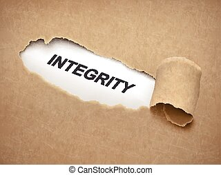 the word integrity behind torn paper - the word integrity...