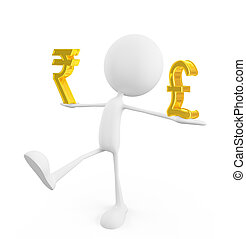 White character with rupee and pound sign