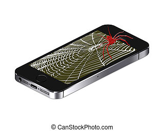 Mobile phone spider Brushes contributor, rafaliabompas...