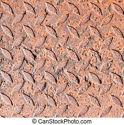 heavy duty rusty metal background with non slip repetitive...