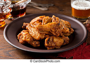 Chicken Wings - A plate of delicious chicken wings