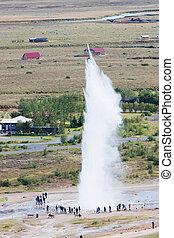 Icelandic geyser Strokkur