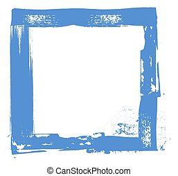 Grunge Strokes Frame - Rough Old Grunge Paint Strokes Frame...