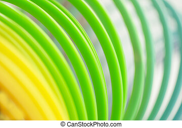 Colorful green color circular art swirl abstract - Colorful...