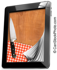 Tablet computer with Cutting Board