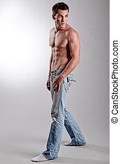 Fashion male - Male model posing in studio