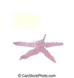 cartoon starfish with speech bubble