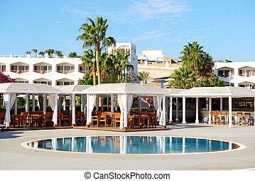 el, natación, piscina, en, lujo, hotel, Sharm, el,...