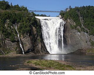 The Montmorency Falls in Quebec City, Canada - The...