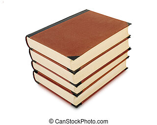 Heavy book tomes - four heavy book tomes isolated, studio...