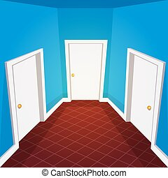 House Hallway - Cartoon illustration of the house hallway.