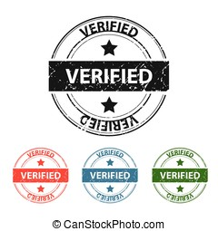 Verified Grunge Stamp - Verified grunge stamp on white,...