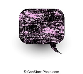 Abstract Messy Talk Bubble - Rough Grunge Texture Abstract...