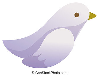bird - a purple bird isolate in a white background