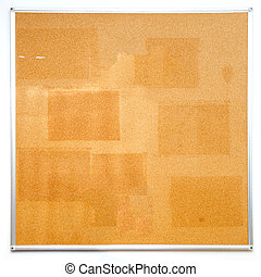 Used office cork board