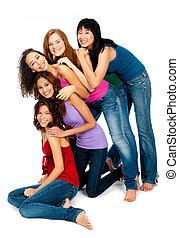 mångfaldig,  teenagers