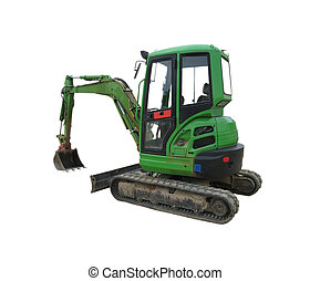 Green Excavator - image showing a green excavator with a...