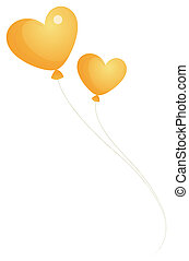 heart balloon - illustration drawing of heart-shaped balloon...