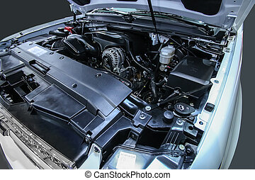 engine of modern car - powerful engine of modern car close...