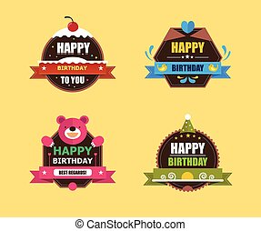 Happy Birthday Labels Collection - Collection of Cute Happy...