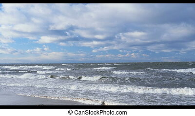 storm seascape - crushing water