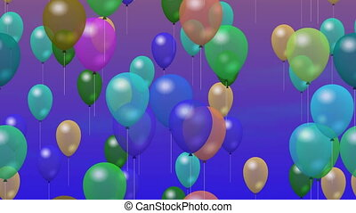 Party balloons generated video